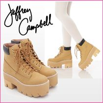 Jeffrey Campbell Casual Style Plain Leather Block Heels Ankle & Booties Boots