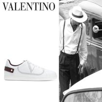 Mario Valentino Studded Plain Leather Sneakers