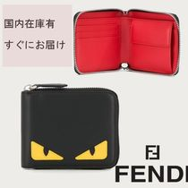 FENDI BAG BUGS Unisex Leather Folding Wallets