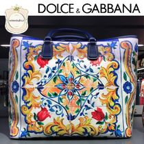 Dolce & Gabbana Casual Style Leather Totes