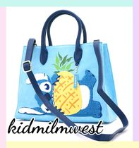 LOUNGE FLY Casual Style Collaboration Totes