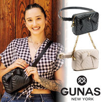 GUNAS Casual Style Faux Fur 2WAY 3WAY Chain Plain Party Style