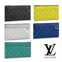 Louis Vuitton TAIGA Unisex Leather Wallets & Small Goods