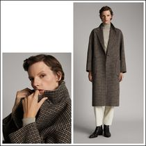Massimo Dutti Other Check Patterns Wool Long Elegant Style Chester Coats