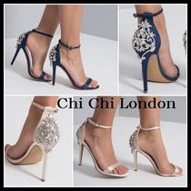 Chi Chi London Blended Fabrics Pin Heels Party Style With Jewels Shoes