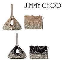 Jimmy Choo Suede Bag in Bag 2WAY Chain Party Style Home Party Ideas