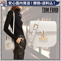 TOM FORD Plain Leather Shoulder Bags