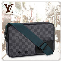 Louis Vuitton DAMIER GRAPHITE Unisex 2WAY Leather Dark Brown Messenger & Shoulder Bags
