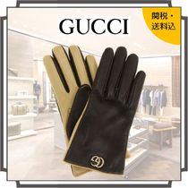 GUCCI Blended Fabrics Bi-color Plain Leather