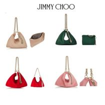 Jimmy Choo Suede Bag in Bag 2WAY Chain Plain Party Style