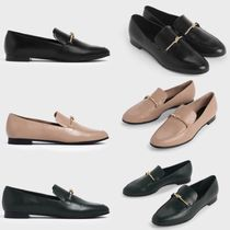 Charles&Keith Casual Style Faux Fur Office Style Loafer Pumps & Mules