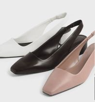 Charles&Keith Casual Style Faux Fur Office Style Formal Style