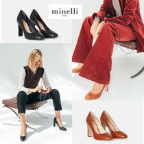 minelli Casual Style Other Animal Patterns Block Heels Office Style