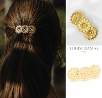 LOUISE DAMAS Flower Brass Elegant Style Hair Accessories