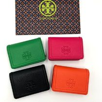 Tory Burch Plain Leather Card Holders