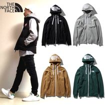 THE NORTH FACE Long Sleeves Plain Cotton Hoodies