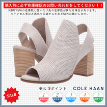 Cole Haan Open Toe Casual Style Suede Plain Chunky Heels