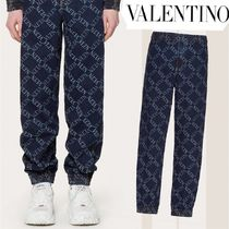 VALENTINO Street Style Plain Joggers Jeans