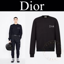 Christian Dior Crew Neck Pullovers Sweat Street Style Long Sleeves Plain