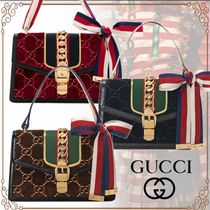 GUCCI Sylvie Monogram 2WAY Elegant Style Shoulder Bags