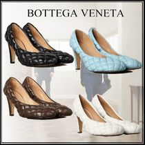 BOTTEGA VENETA Square Toe Plain Leather Elegant Style