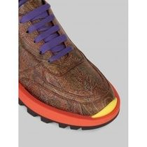 ETRO Paisley Rubber Sole Casual Style Leather Low-Top Sneakers