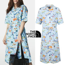 THE NORTH FACE Flower Patterns Casual Style Nylon Blended Fabrics