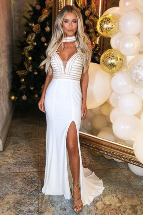 Maxi Halter Neck Long Party Style Dresses