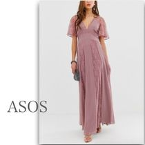 ASOS Flared V-Neck Long Short Sleeves Party Style