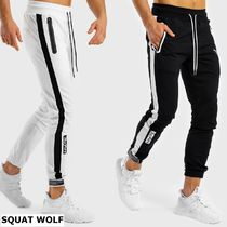SQUAT WOLF Blended Fabrics Street Style Yoga & Fitness Bottoms