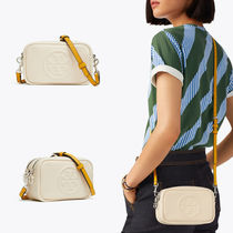 Tory Burch PERRY 2WAY Plain Leather Crossbody Logo Shoulder Bags