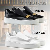 Sergio Rossi Casual Style Street Style Plain Leather Low-Top Sneakers