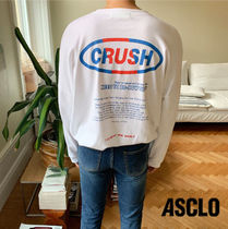 ASCLO Stripes Long Sleeves Cotton Oversized Long Sleeve T-shirt