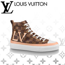 Louis Vuitton Monogram Rubber Sole Casual Style Blended Fabrics