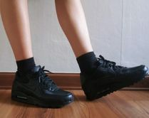 Nike AIR MAX 90 Unisex Street Style Plain Leather Oversized Dad Sneakers