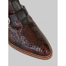 ETRO Square Toe Casual Style Other Animal Patterns Leather