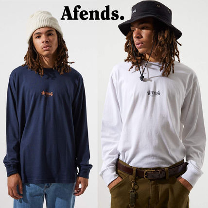 AFENDS Long Sleeve Crew Neck Long Sleeves Cotton Long Sleeve T-Shirts