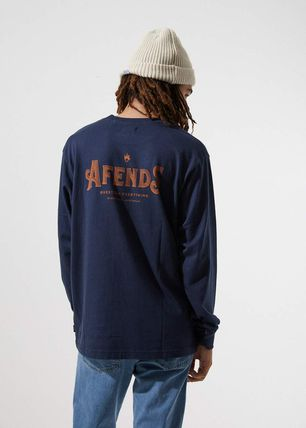 AFENDS Long Sleeve Crew Neck Long Sleeves Cotton Long Sleeve T-Shirts 3