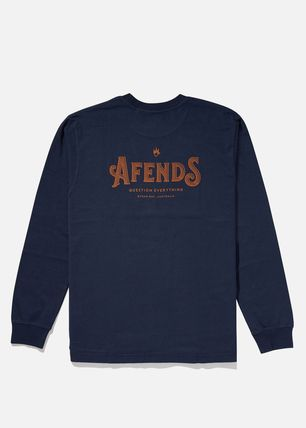 AFENDS Long Sleeve Crew Neck Long Sleeves Cotton Long Sleeve T-Shirts 7