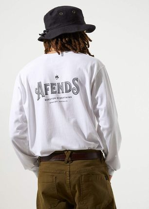 AFENDS Long Sleeve Crew Neck Long Sleeves Cotton Long Sleeve T-Shirts 9