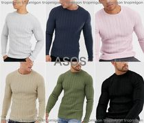 ASOS Crew Neck Street Style Long Sleeves Plain Knits & Sweaters