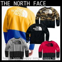 THE NORTH FACE Crew Neck Pullovers Camouflage Street Style Bi-color