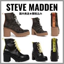 Steve Madden Camouflage Platform Lace-up Casual Style Plain Leather