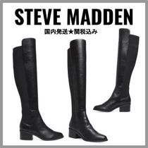 Steve Madden Casual Style Plain Leather Over-the-Knee Boots