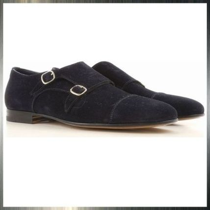 Monk Suede Plain Loafers & Slip-ons