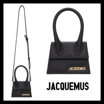 JACQUEMUS Casual Style 2WAY Plain Leather Bags