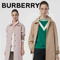 Burberry Stand Collar Coats Short Other Check Patterns Casual Style
