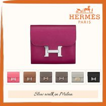 HERMES CONSTANCE Calfskin Plain Leather Accessories