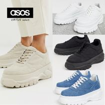 ASOS Platform Casual Style Faux Fur Plain Other Animal Patterns
