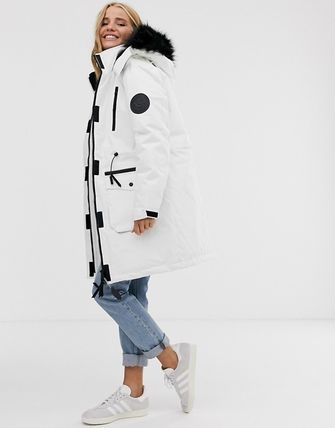 Casual Style Nylon Faux Fur Blended Fabrics Street Style